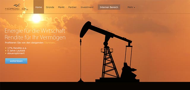 Nordic Oil Webseitendesign